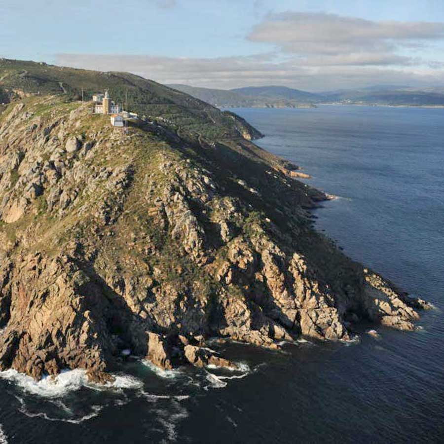 The point at Finisterre as seen from the sea.